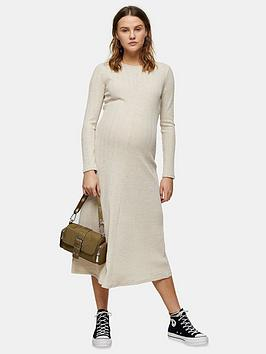 Topshop Topshop Maternity Cut And Sew Midi Dress - Oat Picture
