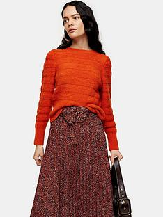 topshop-all-over-pretty-knitted-jumper-orange