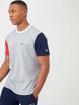 Champion Champion Team Stripes Crewneck T-Shirt - Grey/Multi Picture