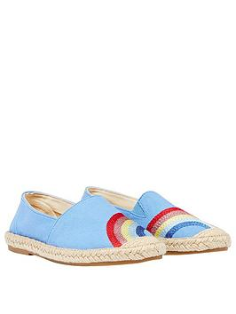 Joules Joules Girls Shelbury Rainbow Espadrille - Blue Picture