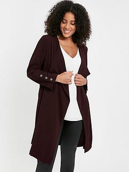 Evans Evans Longline Waterfall Jacket - Purple Picture