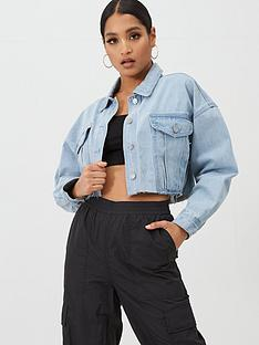 missguided-missguided-cropped-raw-hem-denim-jacket-light-blue