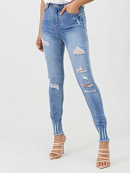 Missguided Missguided Missguided Sinner High Waisted Authentic Rip Skinny  ... Picture