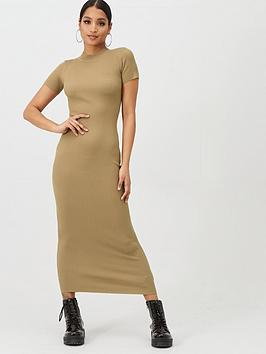 Missguided Missguided Missguided Short Sleeve Crew Neck Maxi Dress - Brown Picture
