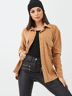 missguided-missguided-velour-shirt-camel
