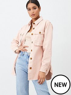 missguided-missguided-denim-shirt-with-tortoise-shell-buttons-pink