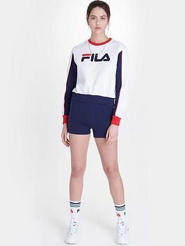 Fila Fila Nuria Colour Block Boyfriend Sweatshirt - White Picture