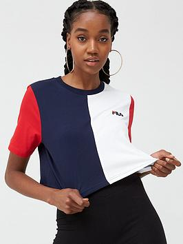 Fila Fila Prudence Cut And Sew Crop T-Shirt - Multi Picture