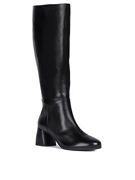 Geox Geox Calinda Heeled Leather Knee Boot - Black Picture
