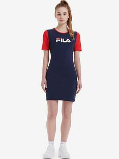 fila-roslyn-colour-block-bodycon-dress-navynbsp
