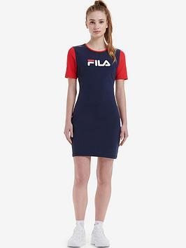 Fila Fila Roslyn Colour Block Bodycon Dress - Navy Picture