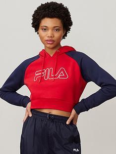 fila-valeria-colour-block-raglan-hoodie-rednbsp