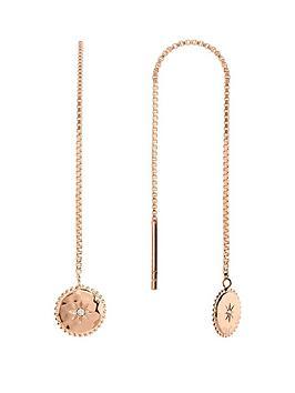 radley-radley-rose-gold-tone-sterling-silver-star-disc-ladies-drop-earrings
