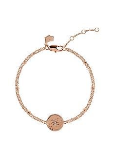 radley-radley-rose-gold-tone-sterling-silver-star-disc-ladies-bracelet