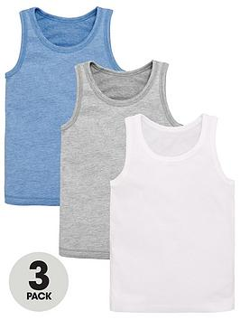 V by Very V By Very Boys 3 Pack Vests Picture