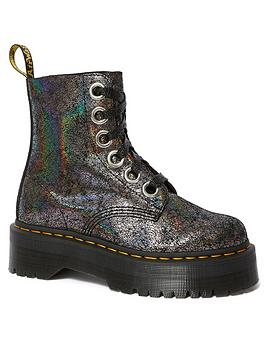 Dr Martens Dr Martens Molly 6 Eye Ankle Boots - Gunmetal Picture