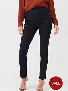 wallis-demi-side-zip-trousers-indigo