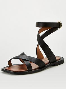 office-siren-ankle-strap-flat-sandal-black
