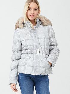 river-island-river-island-camo-print-faux-fur-hood-padded-jacket-grey