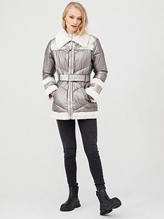 river-island-metallic-aviator-jacket-cream