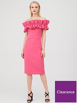 river-island-ruffle-bardot-midi-dress-pink