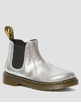 Dr Martens Dr Martens Girls Metallic Chelsea Boots - Silver Picture