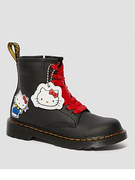 Dr Martens Dr Martens Girls 1460 Printed Hello Kitty 8 Lace Boot - Black Picture