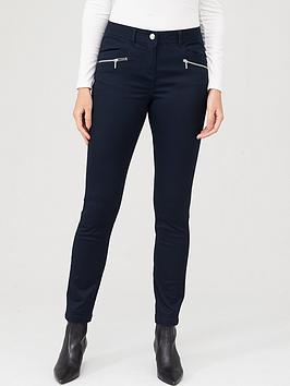 Wallis Wallis Tinseltown Fly Front Jeans - Navy Picture
