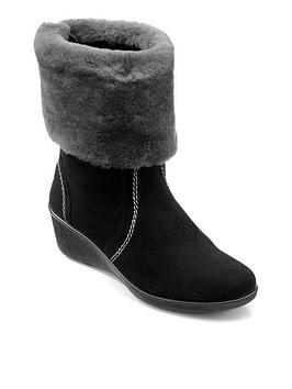 Hotter Hotter Hotter Truro Luxury Low Wedge Ankle Boots Picture