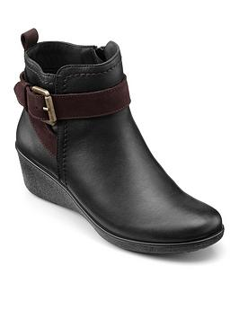 Hotter Hotter Hotter Plymouth Wam Lined Wedge Ankle Boots Picture