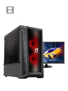 zoostorm-stormforce-onyx-ryzen-3000g-amd-ryzen-3-8gb-ramnbsp2tb-hard-drivenbspdesktop-pc-amp-24-inchnbspmonitor--nbspblack