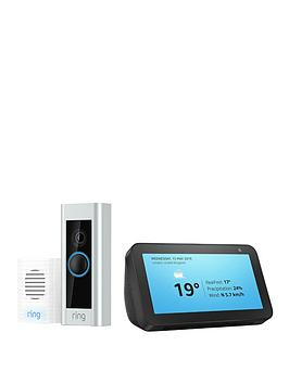Ring Ring Video Doorbell Pro Kit &Amp; Echo Show 5 Picture
