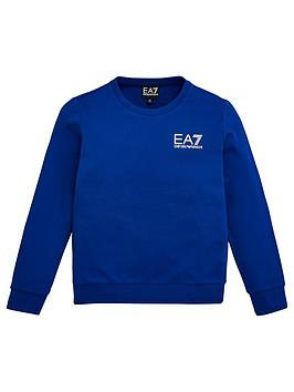 EA7 Emporio Armani Ea7 Emporio Armani Boys Classic Crew Sweat - Blue Picture