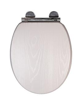 Croydex Croydex Maitland White Oak Flexi-Fix Toilet Seat Picture