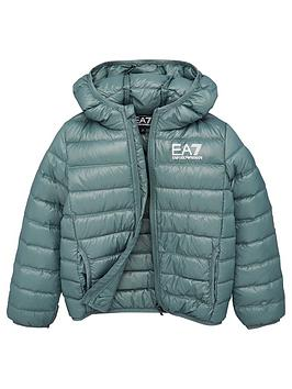 EA7 Emporio Armani Ea7 Emporio Armani Boys Lightweight Down Quilted Jacket  ... Picture
