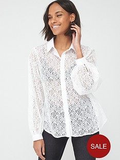 v-by-very-button-through-lace-shirt-white
