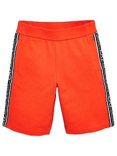 ea7-emporio-armani-boys-tape-logo-shorts-red