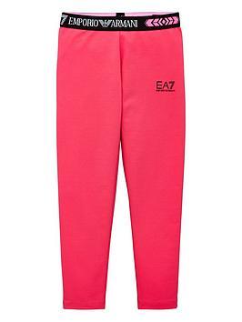EA7 Emporio Armani Ea7 Emporio Armani Girls Logo Waistband Leggings - Pink Picture