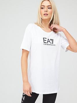 EA7 Emporio Armani Ea7 Emporio Armani Logo T-Shirt - White Picture