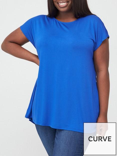 v-by-very-curve-value-everyday-short-sleeve-t-shirtnbsp--blue