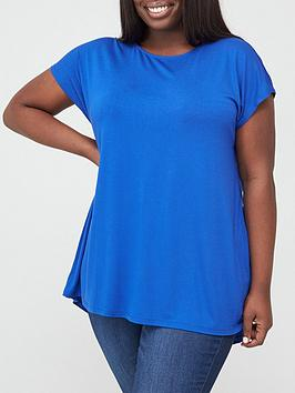 V by Very Curve V By Very Curve Batwing T-Shirt - Blue Picture