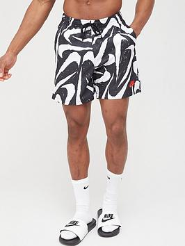 Nike Nike Sportswear All Over Print Woven Shorts - Black Picture