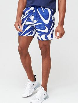 Nike Nike Sportswear All Over Print Woven Shorts - Blue Picture