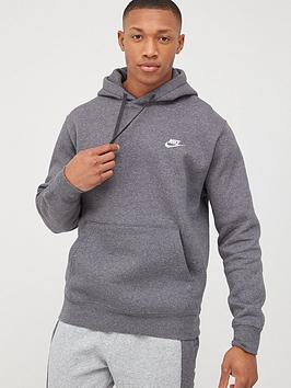 Nike Nike Sportswear Club Overhead Hoodie - Charcoal Heather Picture