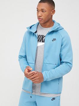 Nike Nike Sportswear Tech Fleece Hoodie Full Zip - Blue/Black Picture