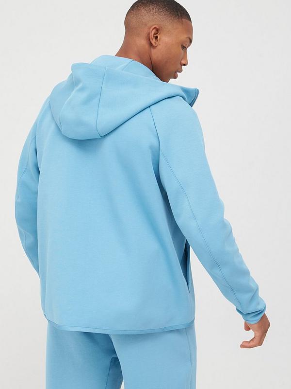 Nike Sportswear Tech Fleece Hoodie Full Zip Blue Black Littlewoods Com