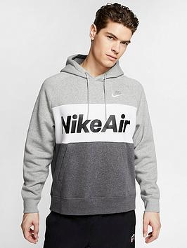Nike Nike Sportswear Air Fleece Hoodie - Dark Grey Heather Picture