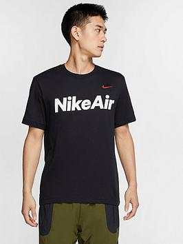 Nike Nike Sportswear Air Short Sleeve T-Shirt - Black/Red Picture