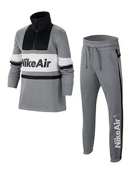 Nike Nike Sportswear Air Older Boys Tracksuit - Grey Black Picture
