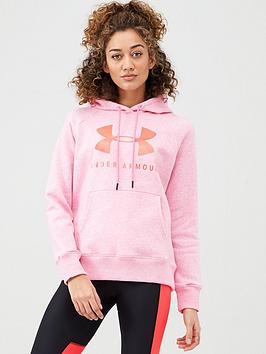 Under Armour Under Armour Rival Fleece Sportstyle Graphic Hoodie - Pink Picture
